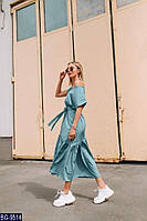 Молодёжное Платье одуванчик миди мята BG-9514