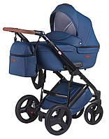 Универсальная детская коляска Bair Leo кожа 100% GN-13 темно-синий, фото 1