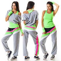 Летний костюм спорт женский для девушки дешево  156jn-grey-green
