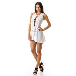 Модное белое платье Светская Львица 0503jn-white