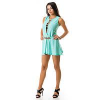Дизайнерское платье-комбинезон новинки женский 0503jn-turq купить оптом летние и вечерние платья