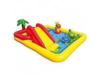 Детский надувной игровой центр Intex 57454 с душем, горка, 254-196-79см, 458 литров