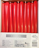 Свеча коническая, красная 30-030