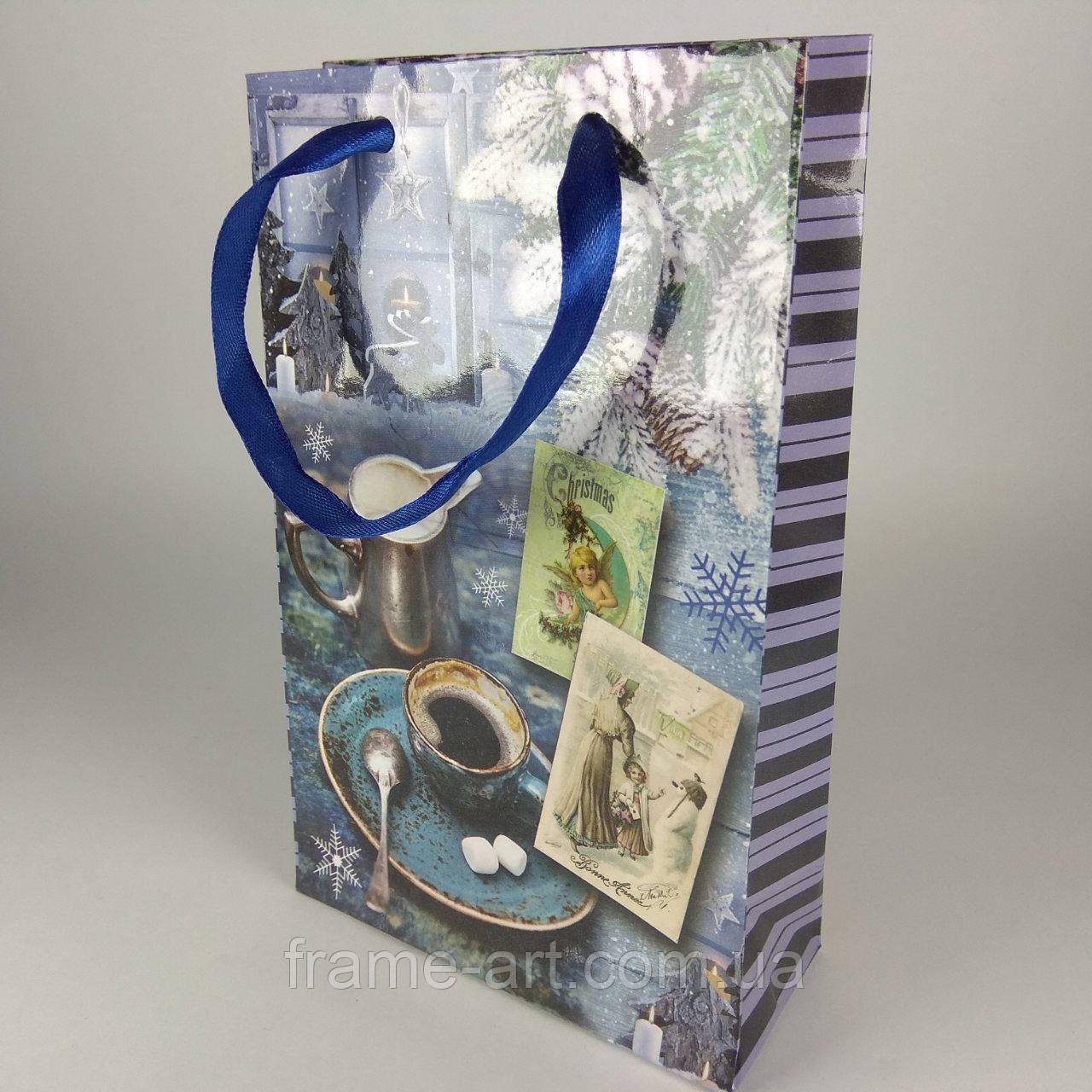 Пакет подарочный 11*18*5см Крафт НГ-009