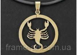 Кулон t30668 Скорпіон Zodiacus Gold