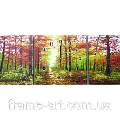 Часы Триптих. Осенний лес 213481