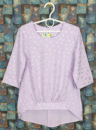 Стильная Блузка для девочки 134-158 фиалковый, фото 2