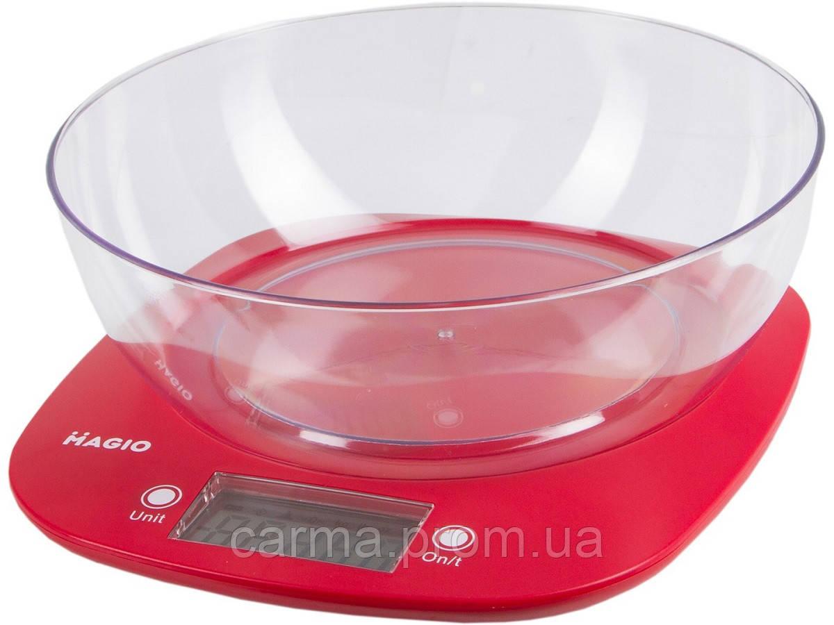 Весы кухонные Magio MG-290 N красный