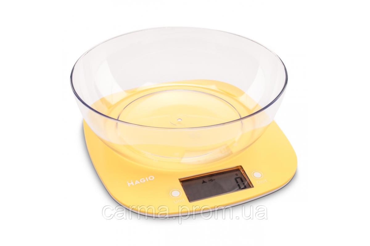 Весы кухонные Magio MG-290 N 5 кг желтые
