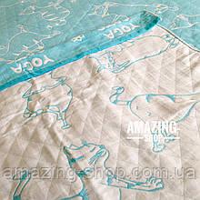 Летнее покрывало, плед, простыня   Плед двусторонний - Yoga Cats. Размер - 180*220 см.