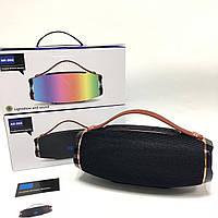 Колонка AK 202 Bluetooth Светомузыка влагозащита, microSD, зарядка телефона