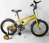 """Детский велосипед TILLY FLASH 18"""" дюймов T-21845 yellow"""
