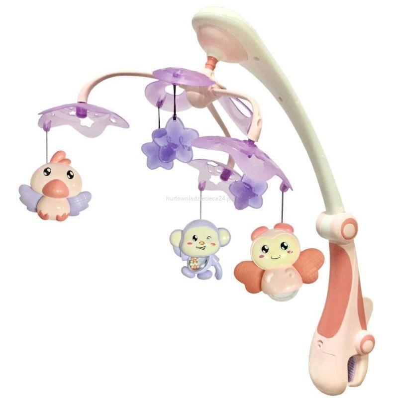 Музыкальный мобиль Baby Mix RC-822-206 pink с проектором (Каруселька пластикова)