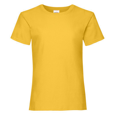 Футболка для девочки из 100% хлопка желтого цвета - 128 см, 140 см, 164 см
