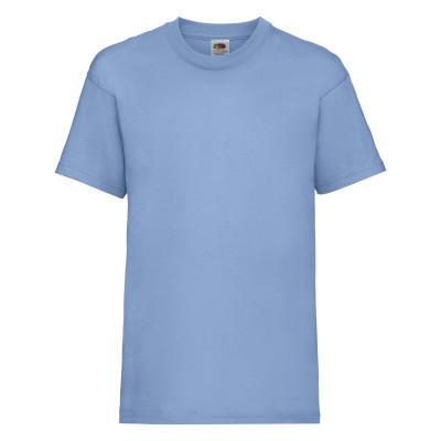 Летняя детская футболка голубого цвета