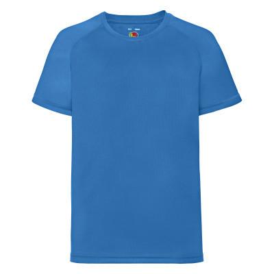 Футболка детская спортивная ультрамарин (ярко-голубая) - 104, 116, 164