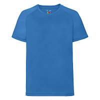 Футболка детская спортивная ультрамарин (ярко-голубая) - 104, 116, 164, фото 1