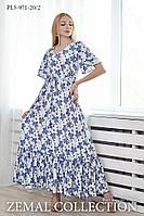 Стильное платье летнее ПЛ3-971 (р.44-54), фото 1