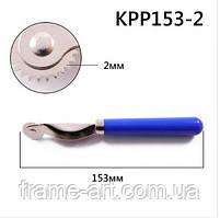 Раскройник копіювальний, ролик-різак 153мм зуб 2мм пластикова ручка КРР153-2 49446