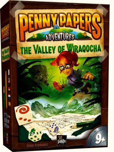 Настольная игра головоломка Пенни Пепперс  Долина Виракоча Penny Papers Valley of Wiraqocha