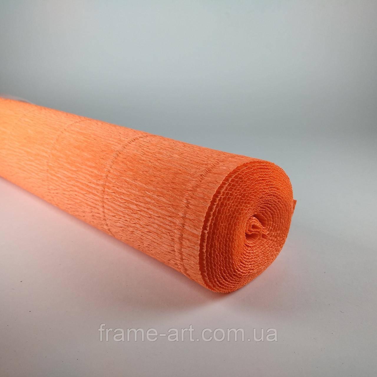Креп-бумага Италия 50см*2,5м 180г/м2 581 оранжевый 074