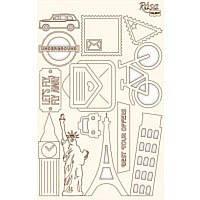 Чипборд для скрапбукинга 13*20см Make your journey 3  белый картон