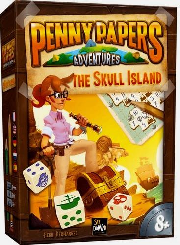 Настольная игра головоломка Пенни Пепперс Остров Череп Penny Papers The Skull Island