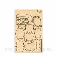 Чипборд для скрапбукинга 13*20см Floral Poem 3 картон