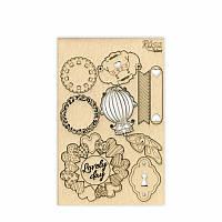 Чипборд для скрапбукинга 13*20см Floral Poem 4 картон