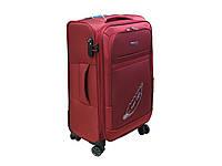 Легкий тканевый чемодан на 4-х кол. большого размера Airplus 4476 бордовый