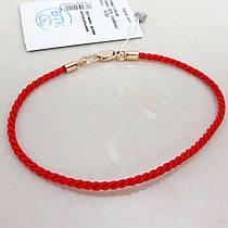 """Браслет-оберег """"Красная нить"""", серебро 925 с позолотой, шелковый шнур - качество ТОП!!!"""