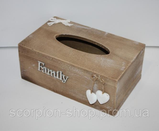 """Шкатулка для салфеток """"Family"""" (24,5*14*9,5 см)"""