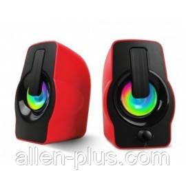 Акустические колонки HAVIT HV-SK586, подсветка, USB, red