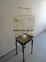 КЛЕТКА ВОЛЬЕР для попугая ЖАКО, КОРЕЛЛА на подставке на роликах.100(80)*52*42