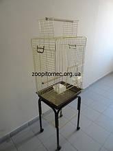 КЛІТКА ВОЛЬЄР для папуги ЖАКО, КОРЕЛЛА на підставці на роликах.100(80)*52*42