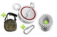 САМЫЙ ПРОДАВАЕМЫЙ НАБОР - поисковый магнит НЕПРА 2F400 +сумка +30м трос(1500кг разрыв )+карабин