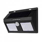 Сенсорный светильник на солнечной батарее Solar Sensor Wall Light 1626A Черный
