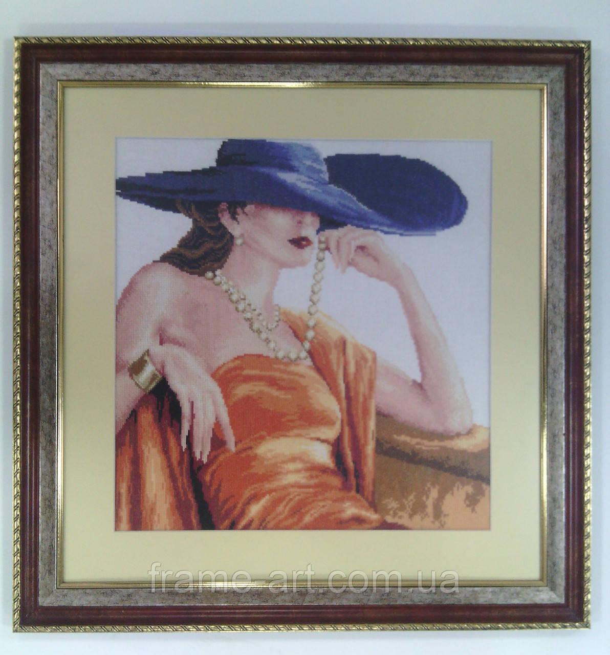 Картина Дама в шляпе 57,5*59см