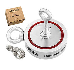 Поисковый неодимовый магнит Непра 2F600 двухсторонний, ЕДИНСТВЕННЫЙ ДИЛЕР В УКРАИНЕ!