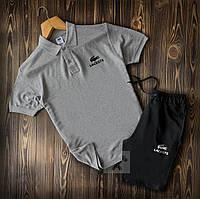 Мужской комплект поло/футболка и шорты Лакост (Lacoste), поло и шорты Lacoste,мужская тенниска, копия