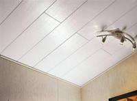 Монтаж вагонки пластиковой, потолок
