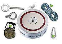 Поисковый набор для профессионалов - неодимовый магнит НЕПРА 2F400+сумка+20м трос+карабин