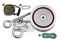 Туристический набор для ОПЫТНОГО КАМРАДА - поисковый магнит НЕПРА 2F600+сумка+20м трос+карабин