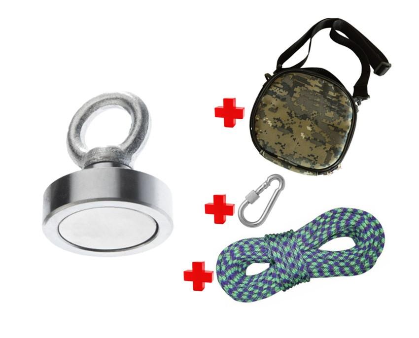 Туристичний набір для ПОЧАТКІВЦІВ шукачів скарбів-пошуковий магніт НЕПРА F80+сумка+20м трос+карабін