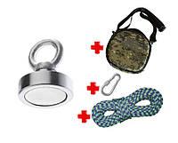 Туристический набор для НАЧИНАЮЩИХ кладоискателей-поисковый магнит НЕПРА F80+сумка+20м трос+карабин