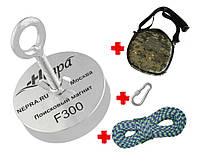 Туристический набор для КАМРАДОВ -односторонний поисковый магнит НЕПРА F300+сумка+20м трос+карабин