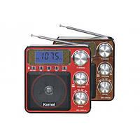 Радиоприёмник/МР3-плеер Kemai MD-2807UL, с часами и будильником, аудиовход, запись радиовещания, дисплей