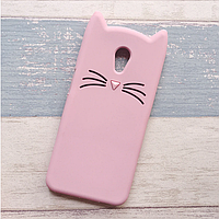 3d Чехол Бампер для Meizu M3 Note резиновый Розовый Кот