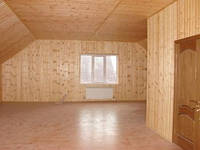 Монтаж вагонки деревянной , стена