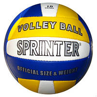 Волейбольный мяч, Volley Baii Sprinter, трехцветный, бело-желто-синий